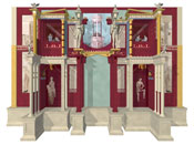 3d visualisation of architectural structure evoked in a fresco from the House of the Cryptoporticus, Pompeii.