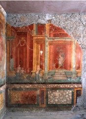 Fresco from the House of Pinarius Cerialis, Pompeii. Photograph copyright Foglia 2007.